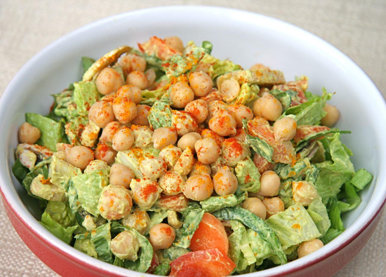 Avocado Tahini & Chickpea Salad | JBean Cuisine