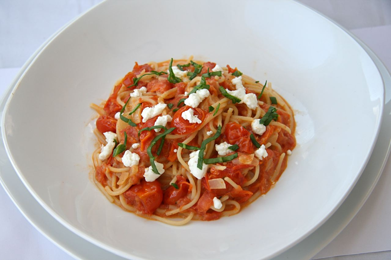 Pasta With Tomatoes And Goat Cheese Recipes — Dishmaps