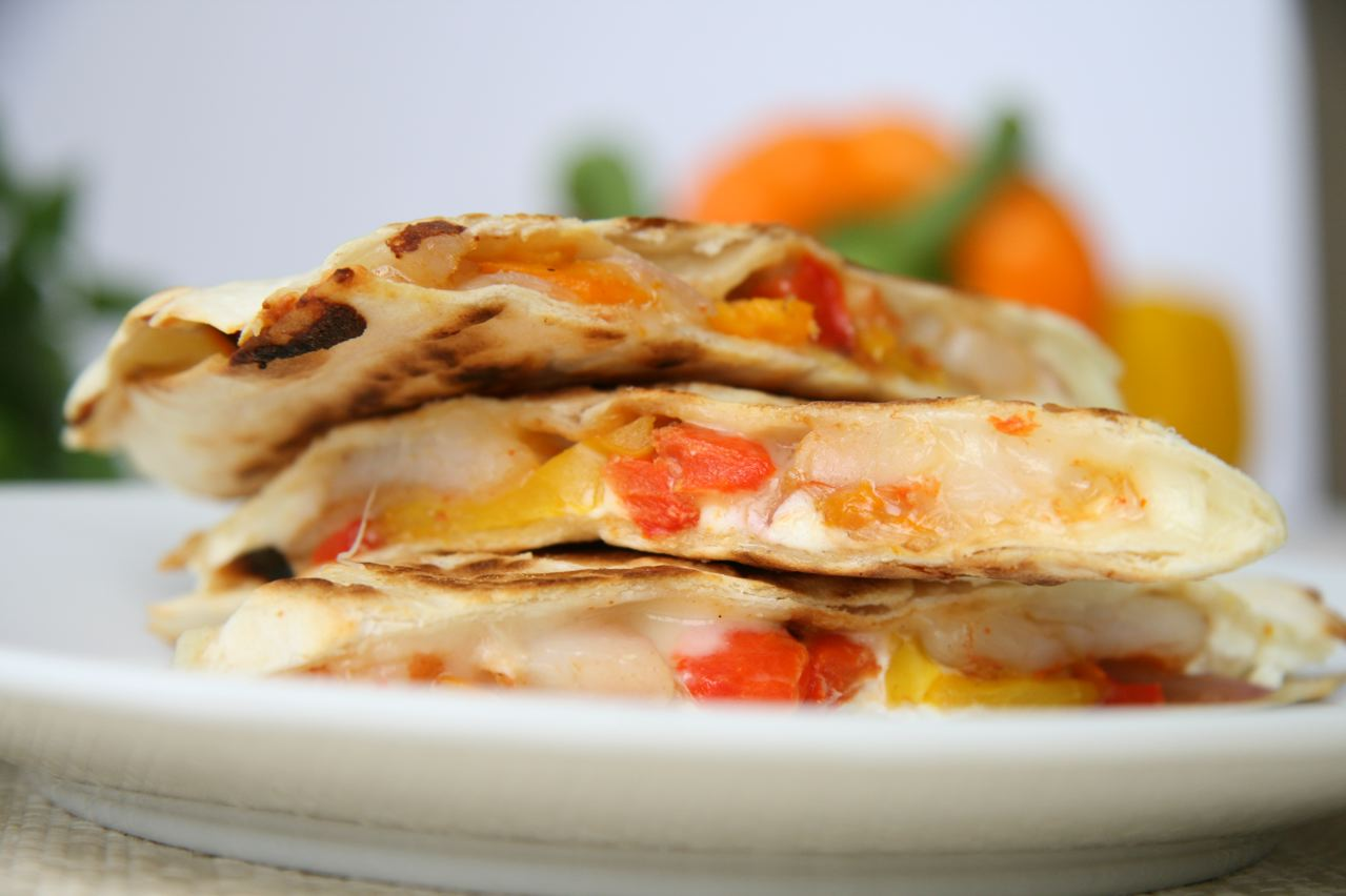 Shrimp & Goat Cheese Quesadillas | JBean Cuisine