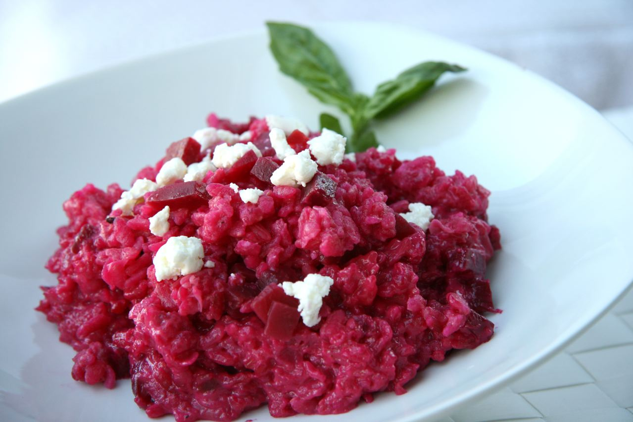 Roasted Beet Risotto with Goat Cheese | JBean Cuisine